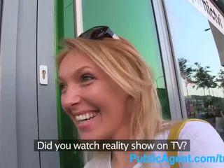 Publicagent ő gets spit-roasted outdoors hogy kap valóság tv munka