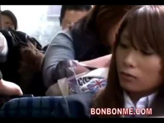 Schoolgirl seduced fucked by geek on bus 01
