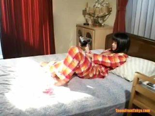 japoński, masturbacji, dziewczyna solo