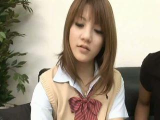 Risa tsukinoasian modell van egy forró diáklány