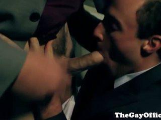 Homo kantoor hunk kwijlen alle over lul