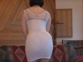 Ffstockings - Mature's Upskirt Sheer Panty Show