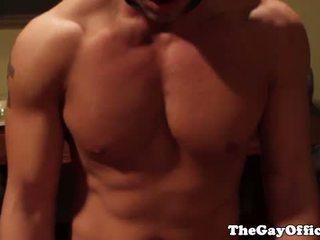 Gay office jock ass drilling boss ass