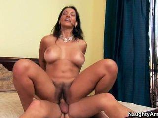 brunette, fucking, beautiful tits