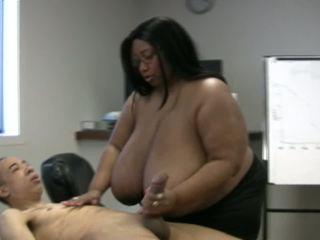 Monster boob handjob