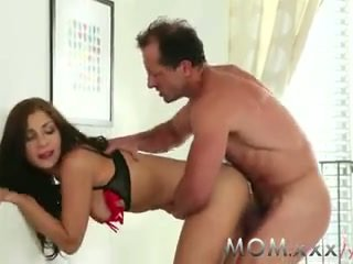 MOM Brunette MILF wants his cock
