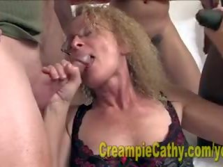 Cathy gets nagy creampies