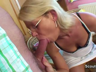 German Mom get fucked with young step-...