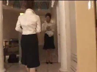 3 valkoinen tytöt sisään japanilainen hieronta parlor