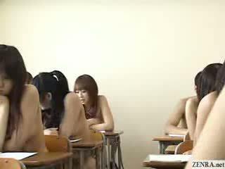 Giapponese schoolgirls tutto andare nudo in scuola