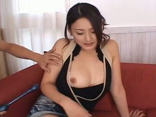 Risa aianlovely asiatisch puppe gets muschi teased