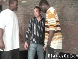 Pierre Screwed By Two Dark Males