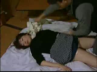 Japanese Housewife Knocked Out By Intruder And Har Video