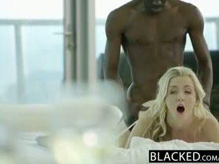 Blacked belas loira karla kush takes maciço negra caralho