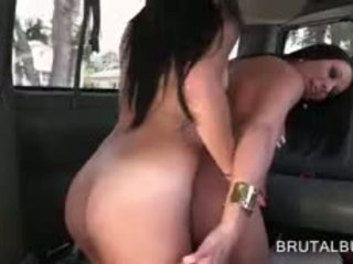 Nasty Threesome On The Sex Bus Back Seat With Hot Teens