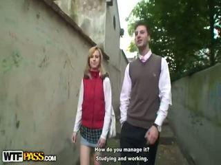 Two schoolgirls in plaid skirts neuken oud leraar
