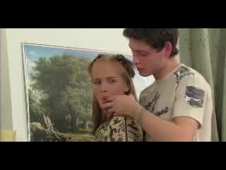 Kurus kering si rambut perang remaja dubur video