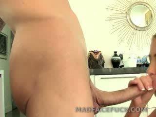 Huge Cock throatfucks a slut before nailing her holes
