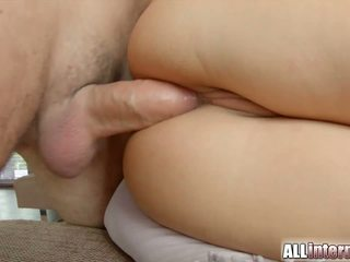 Alexis squirts milk and ends up with ass full of cum