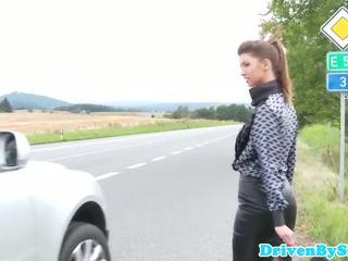 Hitchhiking eurobabe facefucked afara