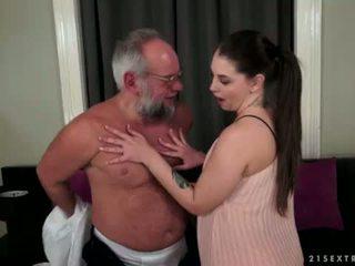 Angelina brill fucks an ouder gentleman