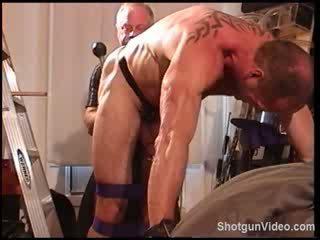 Jim Roberts Bondage, Ball Bashing and Big Black Butt Plug