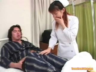 japanese, chick, glamour, red head, tugjob, wanking