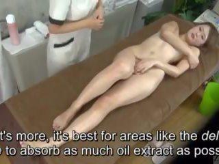 Subtitled enf cfnf japonská lesbička clitoris masáž clinic
