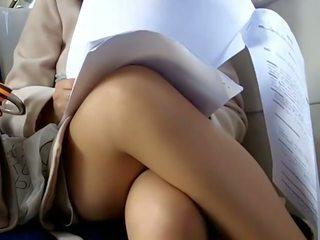 Upskirt on Train Hidden Cam Voyeur 5, Porn 8a