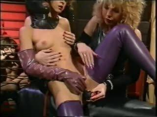 double penetration, femdom, latex