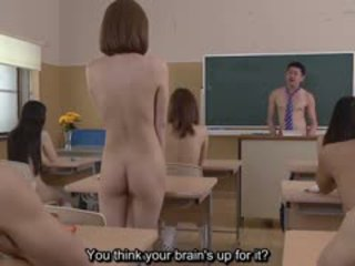 Subtitled uncensored nhật bản thuyết khỏa thân trường học pop quiz