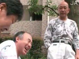 giapponese, vecchio + giovane, mutandine
