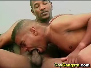 Sexy Gay Gangsters Having Rude Butt Fucking