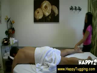 Asian masseuse feels up a guy
