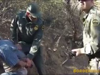Mexican Border Patrol Agent Fucks Natural Tits Brunette Babe