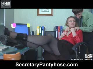 Alana Charley Secretary Pantyhose Movie