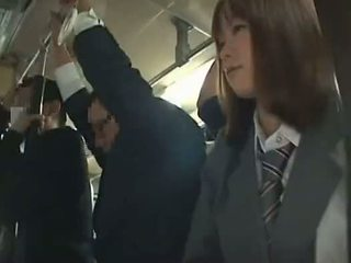 여학생 강요된 입 에 버스