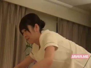 giapponese, massaggio, handjob