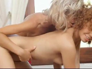 Stephanie and Caprice intimate lesbo sex