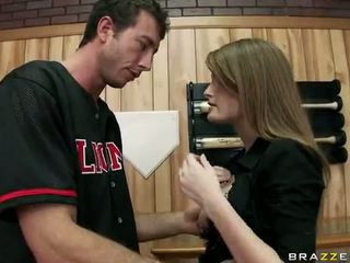 Lief babe faye reagan getting geboord in kniekousen video-