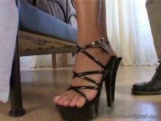 cum, shoes, pussy