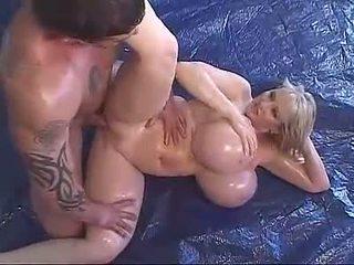 pornstars, alyvuotas, mega big tits
