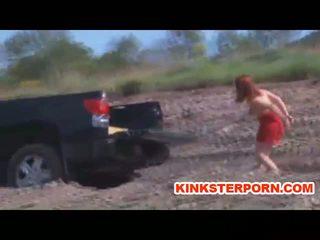 MILF BDSM Slave Catherine de Sade is Outdoor Humiliated in Bondage